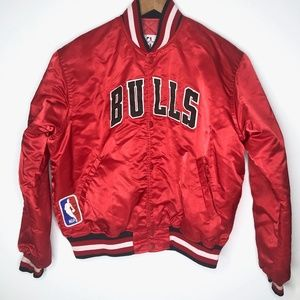 Vintage Starter Chicago Bulls Satin Jacket LG